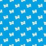 Boxing gloves pattern seamless blue Stock Images