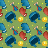 Boxing gloves pattern - sport - #1 Royalty Free Stock Photo