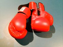 Boxing gloves. Gloves boxing fight Stock Photography