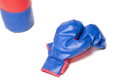 Boxing gloves red Royalty Free Stock Image