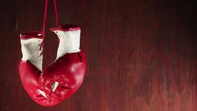 Boxing gloves rotation stock video footage