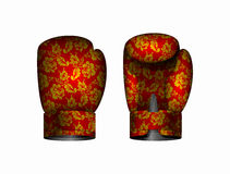 Boxing gloves Russia traditional style. Vector illustration Eps Royalty Free Stock Images