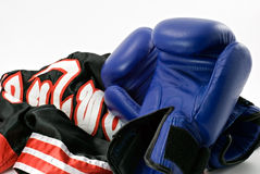 Boxing gloves with shorts Royalty Free Stock Photo