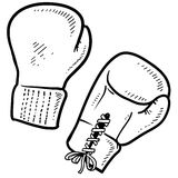 Boxing gloves sketch Stock Photos