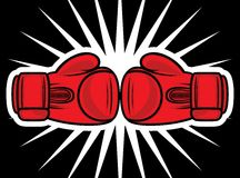 Boxing gloves strike Royalty Free Stock Image