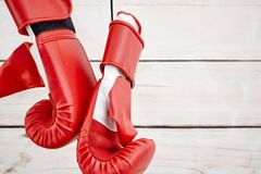 Boxing Gloves. A studio photo of boxing gloves Stock Photo