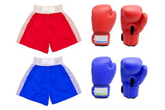Boxing gloves suits with white blackground Stock Images