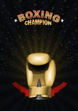 Boxing gloves. Template for Championship Awards. boxing gold cup Stock Image