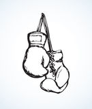 Boxing gloves. Vector drawing Royalty Free Stock Photos