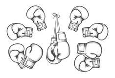 Boxing gloves vector Stock Photos