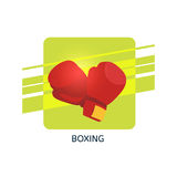 Boxing gloves vector icon. Isolated vector illustration Stock Photography