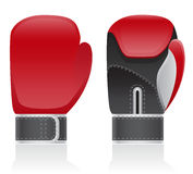 Boxing gloves vector illustration Royalty Free Stock Images