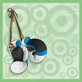 Boxing gloves. Vector illustration for your text. Boxing gloves stock illustration