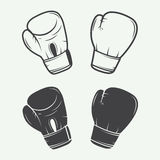 Boxing gloves in vintage style. royalty free stock photography