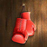 Boxing Gloves On Wall Stock Photo
