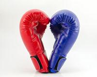 Boxing gloves on a white background close up Royalty Free Stock Photos