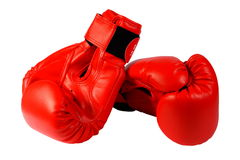 Boxing-gloves on the white background. (isolated) Stock Photo