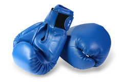 Boxing-gloves on the white background. (isolated) Royalty Free Stock Images