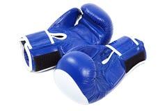 Boxing gloves on white background. Stock Photo