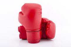 Boxing gloves with white blackground Stock Photo