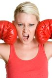 Boxing Gloves Woman Stock Image