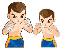Boxing guard action. Vector of boxing msn guard for fighting actions practice Royalty Free Stock Photos