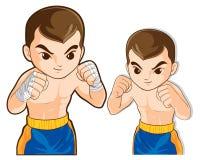 Boxing guard action Royalty Free Stock Photos