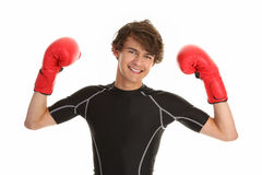 Boxing guy Royalty Free Stock Photos