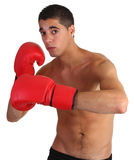 Boxing guy. Throwing a left hook Stock Photo