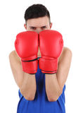 Boxing guy Stock Images