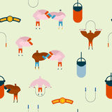 Boxing gym pattern. Hall boxing background and ornament. Boxer t Royalty Free Stock Photos
