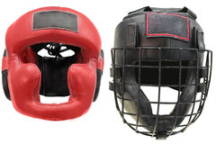 Boxing helmets Royalty Free Stock Images