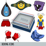 Boxing icons Royalty Free Stock Photos