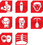 Boxing icons Royalty Free Stock Photography