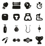 Boxing Icons Freehand Fill Royalty Free Stock Photography