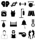 Boxing icons set Stock Image