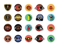 Boxing icons set Stock Images