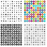 100 boxing icons set vector variant. 100 boxing icons set vector in 4 variant for any web design isolated on white stock illustration
