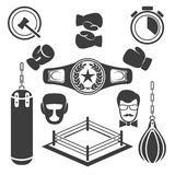 Boxing icons vector Royalty Free Stock Photos