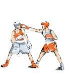 Boxing illustration man practice boxe Royalty Free Stock Photos