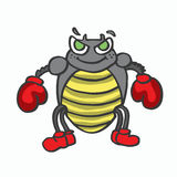Boxing insect kids t-shirt design Stock Photos