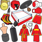 Boxing Items. Items/Equipment used in the sport of Boxing Royalty Free Stock Photo