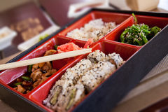 Boxing with Japanese food. Stock Photography