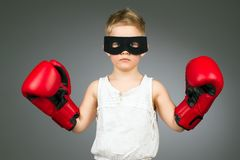 Boxing kid Royalty Free Stock Photos