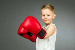 Boxing kid Stock Photos