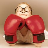 Boxing kid Stock Photo