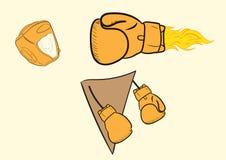 Boxing knockout blow Stock Photos