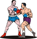 Boxing knockout punch Stock Images