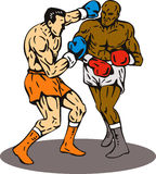 Boxing knockout punch winner Royalty Free Stock Image
