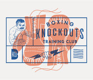 Boxing knockouts Stock Image
